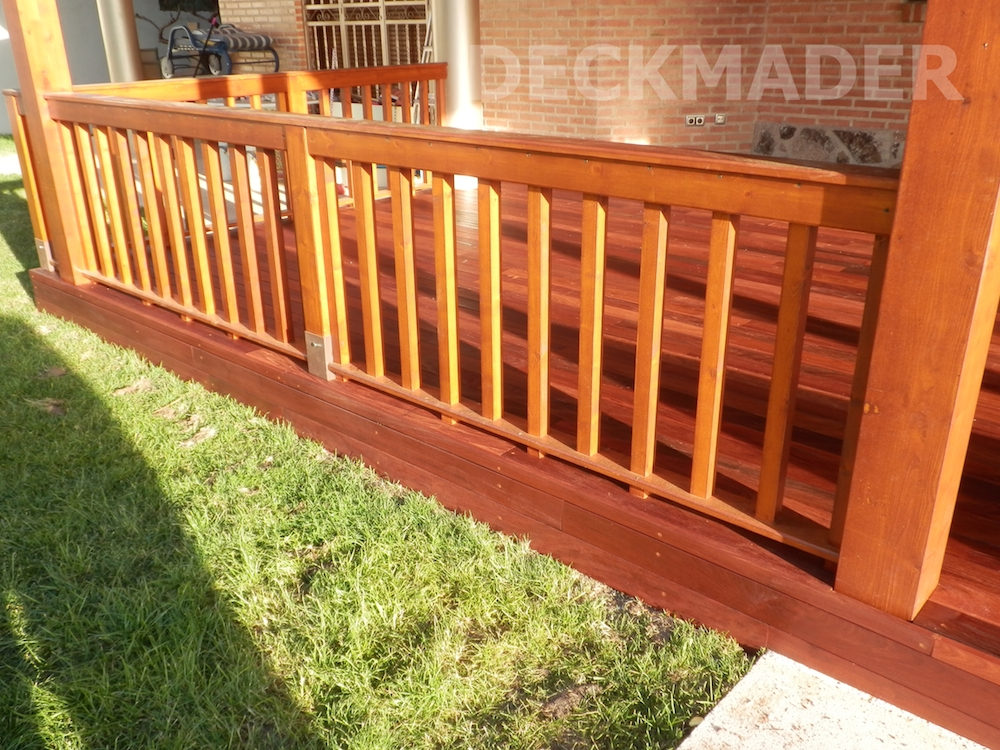 Decks elevados for Deck madera