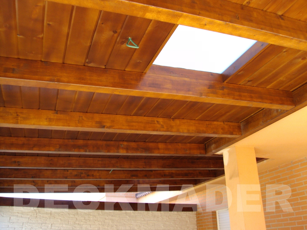 dise o de cubiertas de madera con aislante en 3d en madrid