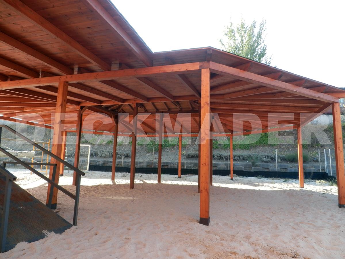 estructura madera colegio monte abantos